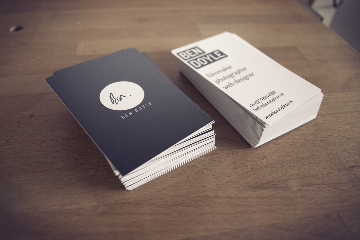 Soft Touch Laminated Business Cards in Mississauga