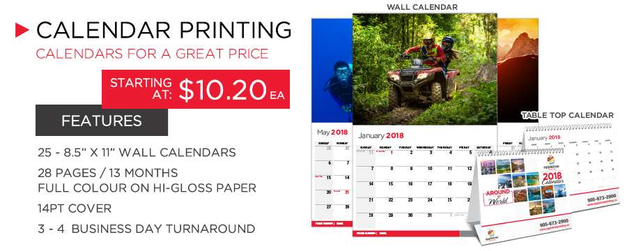 Appletree Printing - We Print High Quality Calendars in Mississauga